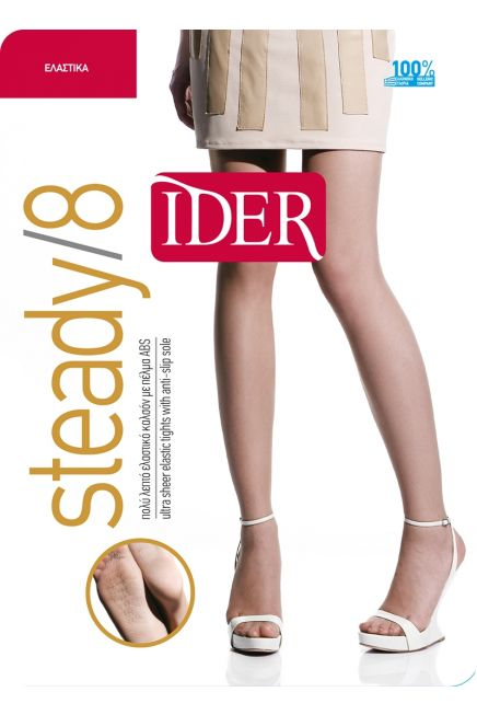 IDER STEADY 8 - SHEER TO WAIST ELASTIC TIGHTS WITH ABS SOLE