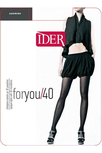 IDER FOR YOU 40 - LOW WAIST OPAQUE TIGHTS WITH 3D MICROFIBRE