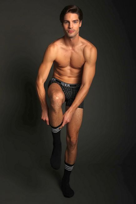 3-PACK COTTON SPORTS TENNIS SOCKS WITH REINFORCED FOOT RIB CUFF AND HORIZONTAL STRIPES PATTERN