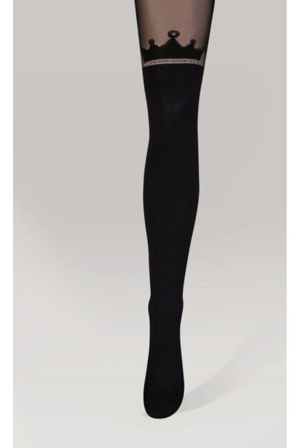IDER - FASHION ELASTIC TIGHTS, OPAQUE EFFECT PATTERNED
