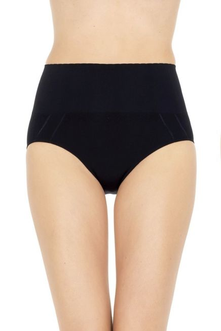 HIGH WAIST SHAPING BRIEFS WITH CONTROL EFFECT, WITH GUSSET