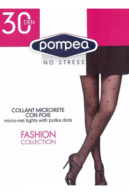 30DEN MICRO-NET TIGHTS WITH POLKA DOTS