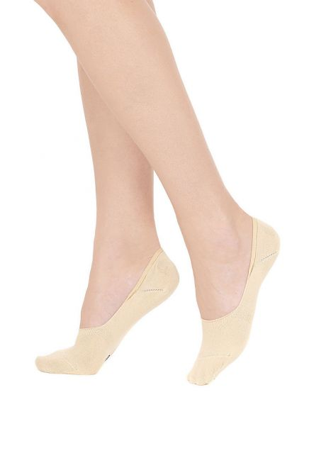 POMPEA ADELFIA - WOMAN COTTON SHOE LINER WITH SILICON BAND (3 PACK)