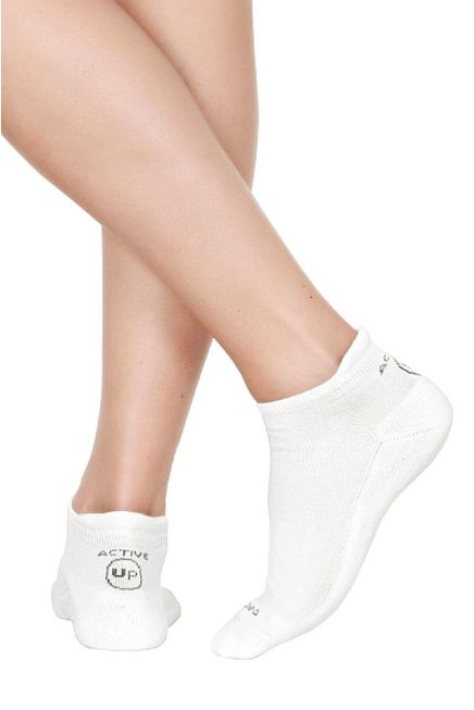 CZ ACTIVE UP DANCE WOMAN COTTON ANKLE SOCKS REINFORCED SOLE FOR HEEL AND TOES PROTECTION