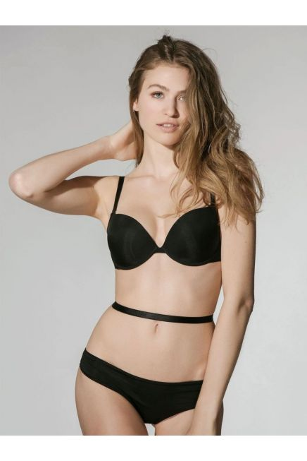 LUNA SECRET - PUSH UP MULTIWAY STRAPS BRA WIRED MAXIMISER LONG STRAPS AND SILICONE STRAPS