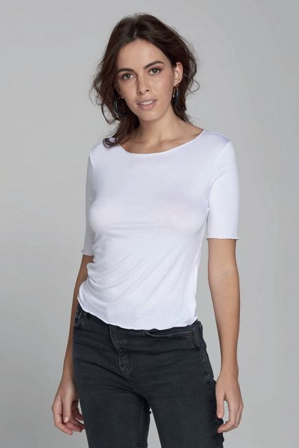 WOMAN BAMBOO T-SHIRT CREW NECK 3/4 ARM SLEEVES