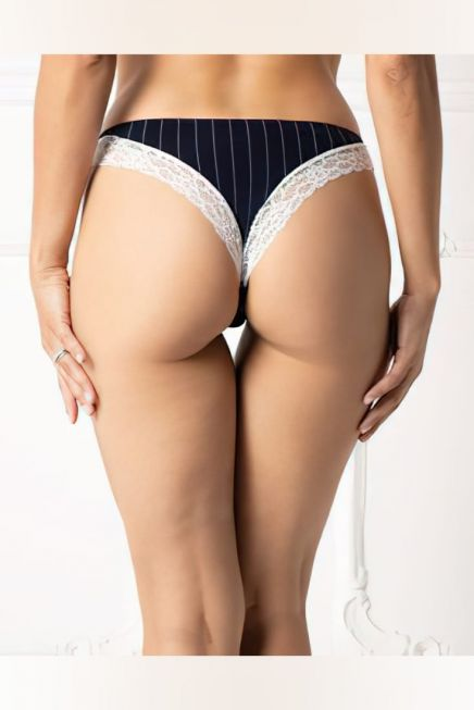 WOMAN COTTON BRAZIL STRIPES PATTERN AND LACE TRIMS ON THE EDGES